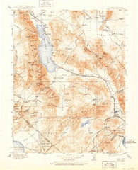 Hawthorne Nevada Historical topographic map, 1:250000 scale, 1 X 1 Degree, Year 1915