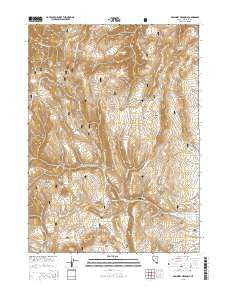 Holloway Meadows Nevada Current topographic map, 1:24000 scale, 7.5 X 7.5 Minute, Year 2015