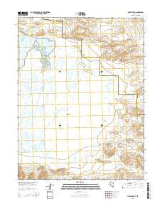 Hooten Well Nevada Current topographic map, 1:24000 scale, 7.5 X 7.5 Minute, Year 2015