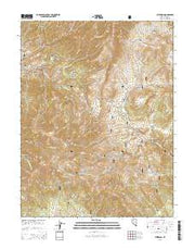 Jefferson Nevada Current topographic map, 1:24000 scale, 7.5 X 7.5 Minute, Year 2014 from Nevada Maps Store