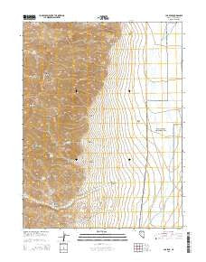 Job Peak Nevada Current topographic map, 1:24000 scale, 7.5 X 7.5 Minute, Year 2015