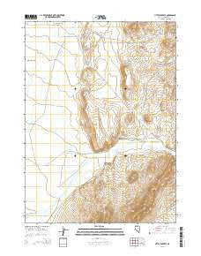 Little Poverty Nevada Current topographic map, 1:24000 scale, 7.5 X 7.5 Minute, Year 2015