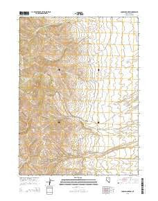 Loomis Mountain Nevada Current topographic map, 1:24000 scale, 7.5 X 7.5 Minute, Year 2015