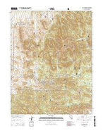 Manhattan Nevada Current topographic map, 1:24000 scale, 7.5 X 7.5 Minute, Year 2014 from Nevada Map Store