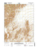 Manhattan Mountain NE Nevada Current topographic map, 1:24000 scale, 7.5 X 7.5 Minute, Year 2014 from Nevada Map Store