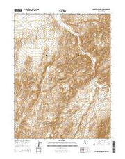 Manhattan Mountain NW Nevada Current topographic map, 1:24000 scale, 7.5 X 7.5 Minute, Year 2014 from Nevada Maps Store