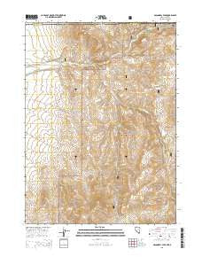 McConnell Peak Nevada Current topographic map, 1:24000 scale, 7.5 X 7.5 Minute, Year 2015