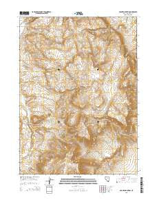 McGhee Mountain Nevada Current topographic map, 1:24000 scale, 7.5 X 7.5 Minute, Year 2015