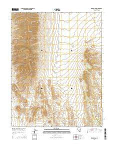 Meeker Peak Nevada Current topographic map, 1:24000 scale, 7.5 X 7.5 Minute, Year 2015