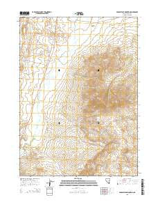 Middle Stack Mountain Nevada Current topographic map, 1:24000 scale, 7.5 X 7.5 Minute, Year 2015