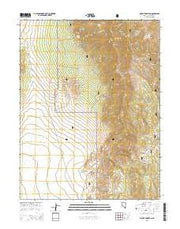 Mount Hamilton Nevada Current topographic map, 1:24000 scale, 7.5 X 7.5 Minute, Year 2014 from Nevada Maps Store