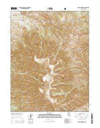Mount Jefferson Nevada Current topographic map, 1:24000 scale, 7.5 X 7.5 Minute, Year 2014 from Nevada Map Store