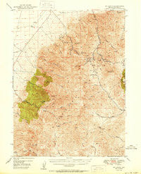 Mt. Lewis Nevada Historical topographic map, 1:62500 scale, 15 X 15 Minute, Year 1950