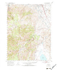 Mt. Rose Nevada Historical topographic map, 1:62500 scale, 15 X 15 Minute, Year 1950