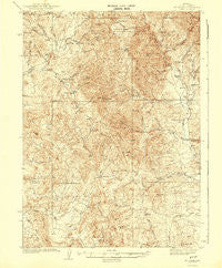 Mt. Velma Nevada Historical topographic map, 1:62500 scale, 15 X 15 Minute, Year 1942