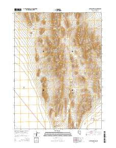 Mustang Spring Nevada Current topographic map, 1:24000 scale, 7.5 X 7.5 Minute, Year 2015