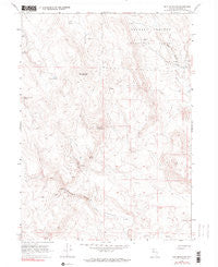 Nut Mountain Nevada Historical topographic map, 1:24000 scale, 7.5 X 7.5 Minute, Year 1966