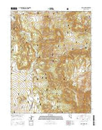 Nye Canyon Nevada Current topographic map, 1:24000 scale, 7.5 X 7.5 Minute, Year 2014 from Nevada Map Store