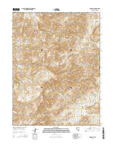 Olinghouse Nevada Current topographic map, 1:24000 scale, 7.5 X 7.5 Minute, Year 2015