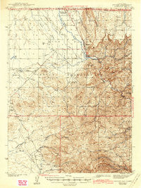 Owyhee Nevada Historical topographic map, 1:62500 scale, 15 X 15 Minute, Year 1942