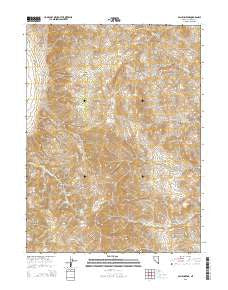 Pah-Rum Peak Nevada Current topographic map, 1:24000 scale, 7.5 X 7.5 Minute, Year 2015