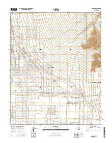 Pahrump Nevada Current topographic map, 1:24000 scale, 7.5 X 7.5 Minute, Year 2015