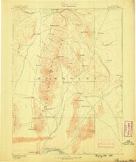 Paradise Nevada Historical topographic map, 1:250000 scale, 1 X 1 Degree, Year 1882