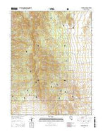 Paradise Peak Nevada Current topographic map, 1:24000 scale, 7.5 X 7.5 Minute, Year 2014 from Nevada Map Store