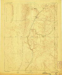 Pioche Nevada Historical topographic map, 1:250000 scale, 1 X 1 Degree, Year 1885