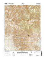 Piper Peak Nevada Current topographic map, 1:24000 scale, 7.5 X 7.5 Minute, Year 2014 from Nevada Map Store