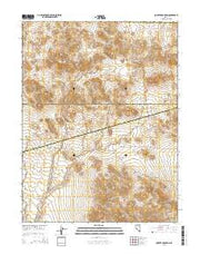 Quartz Mountain Nevada Current topographic map, 1:24000 scale, 7.5 X 7.5 Minute, Year 2015 from Nevada Maps Store