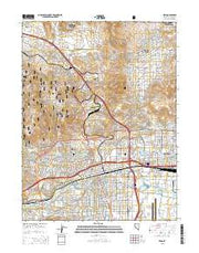 Reno Nevada Current topographic map, 1:24000 scale, 7.5 X 7.5 Minute, Year 2015 from Nevada Maps Store
