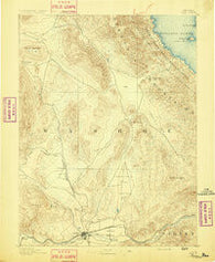 Reno Nevada Historical topographic map, 1:125000 scale, 30 X 30 Minute, Year 1891