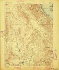 Reno Nevada Historical topographic map, 1:125000 scale, 30 X 30 Minute, Year 1893