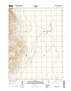 Riverside Ranch Nevada Current topographic map, 1:24000 scale, 7.5 X 7.5 Minute, Year 2015