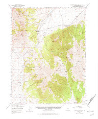 Roberts Creek Mtn Nevada Historical topographic map, 1:62500 scale, 15 X 15 Minute, Year 1949