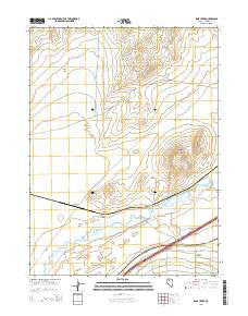 Rose Creek Nevada Current topographic map, 1:24000 scale, 7.5 X 7.5 Minute, Year 2015