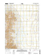 Rose Creek Mountain Nevada Current topographic map, 1:24000 scale, 7.5 X 7.5 Minute, Year 2014 from Nevada Maps Store