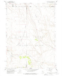 Sage Hen Hills Nevada Historical topographic map, 1:24000 scale, 7.5 X 7.5 Minute, Year 1966
