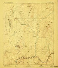 Saint Thomas Nevada Historical topographic map, 1:250000 scale, 1 X 1 Degree, Year 1886