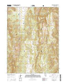 Segura Ranch Nevada Current topographic map, 1:24000 scale, 7.5 X 7.5 Minute, Year 2015