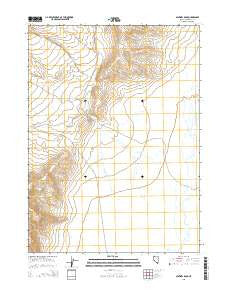 Sentinel Rock Nevada Current topographic map, 1:24000 scale, 7.5 X 7.5 Minute, Year 2015