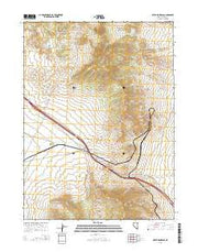 Silver Zone Pass Nevada Current topographic map, 1:24000 scale, 7.5 X 7.5 Minute, Year 2014 from Nevada Maps Store