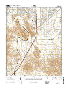 Sloan Nevada Current topographic map, 1:24000 scale, 7.5 X 7.5 Minute, Year 2015