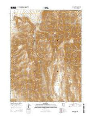 Spanish Flat Nevada Current topographic map, 1:24000 scale, 7.5 X 7.5 Minute, Year 2015 from Nevada Maps Store