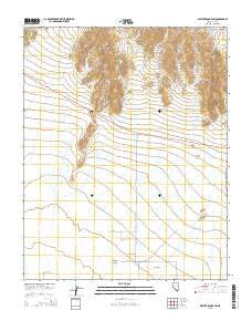 Specter Range SW Nevada Current topographic map, 1:24000 scale, 7.5 X 7.5 Minute, Year 2015