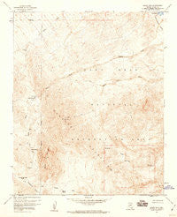 Spirit Mtn Nevada Historical topographic map, 1:24000 scale, 7.5 X 7.5 Minute, Year 1959