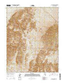 Split Mountain Nevada Current topographic map, 1:24000 scale, 7.5 X 7.5 Minute, Year 2014
