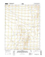 Spring Creek Flat NW Nevada Current topographic map, 1:24000 scale, 7.5 X 7.5 Minute, Year 2014 from Nevada Map Store