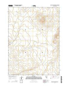 Star Valley Ridge SW Nevada Current topographic map, 1:24000 scale, 7.5 X 7.5 Minute, Year 2015